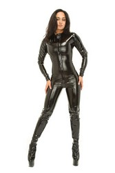 Catsuit pvc long sleeve play